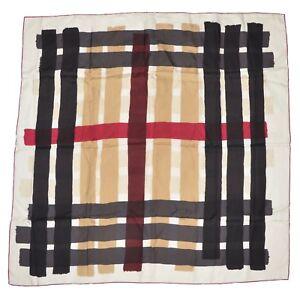 Burberry-London-Tuch-Scarf-Seide-Silk-Paint-Stroke-Novacheck-Handrolled-CLASSIC