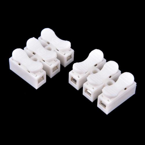20X selbstsichernde 3-polige Kabelstecker Schnellkupplung Kabelklemme sperren JM