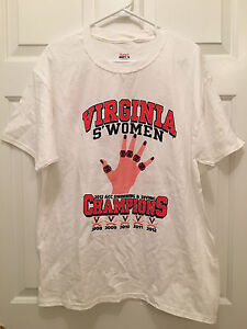 University of Virginia UVA Cavaliers Women's Swimming Team Issued T-Shirt Large