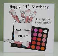 Personalised Handmade Birthday Card Glamour Girl 16th 18th 21st 30th 40th   A5