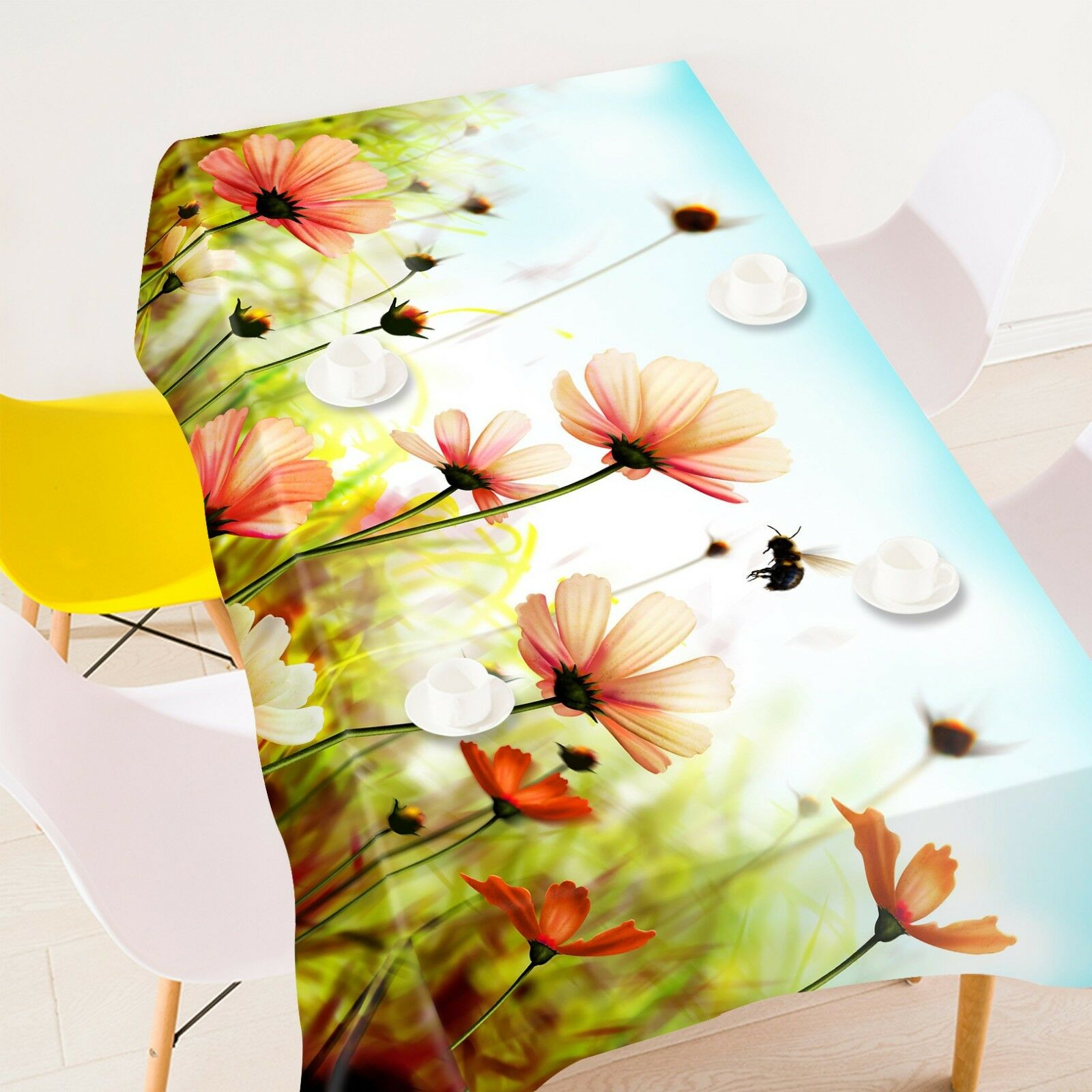 3D Field Flowers 122 Tablecloth Table Cover Cloth Birthday Party Event AJ Summer