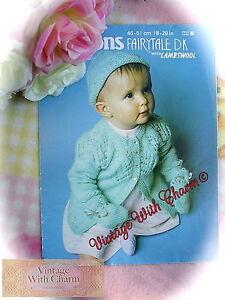 bce1bbb428db Vintage 70s Knitting Pattern Instructions Baby s  4 Button  Jacket ...