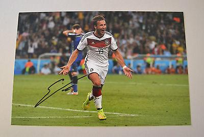Mario Gotze Signed 12x8 Photo Germany World Cup Autograph Memorabilia + COA