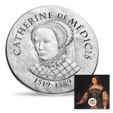 Women of Francia 2017 Catherine de Medicis 22g Con prova Moneta D'argento
