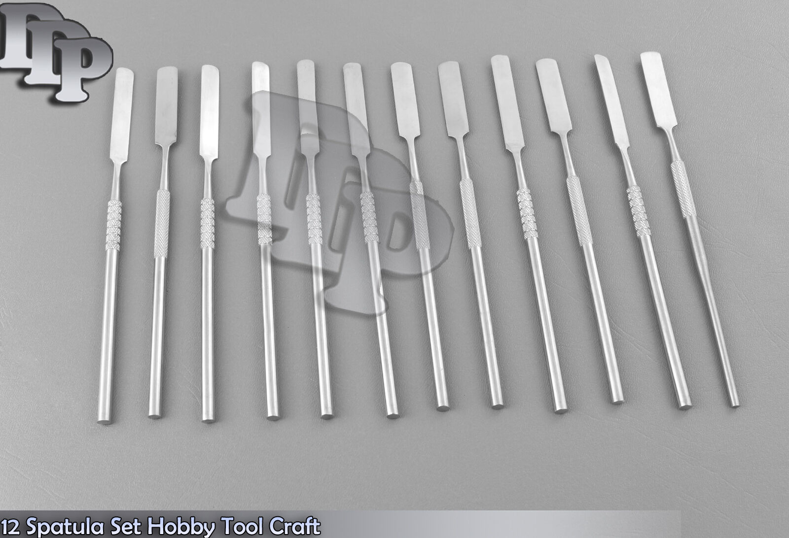 12 Spatula Set Hobby Tool Craft Surgical Stainles steel
