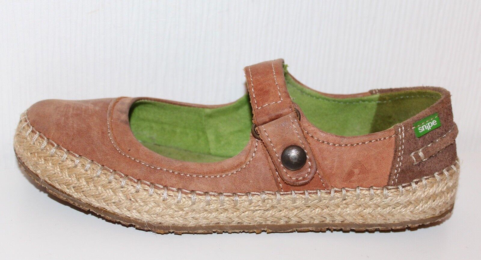 SNIPE Damen Schuhe 36 LEDER SLIPPER Lagenlook Mary Janes Ballerinas WASCHBÄR Lagenlook SLIPPER f445a6