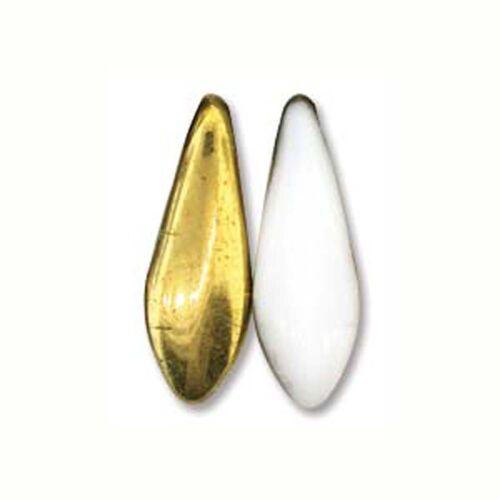 24 Czech Glass Dagger Drop Fringe Beads 5x16mmU-Pick