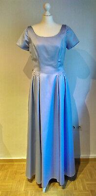 abendkleid lang ballkleid gr 40 sina c kurschat hellblau blau satin  ebay