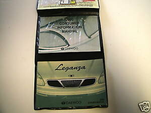 Daewoo-2000-Leganza-Owner-039-s-Manual