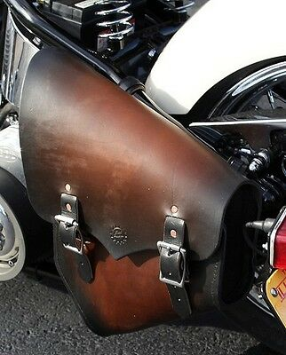 Rich Phillips Leather Motorcycle Ant Black Seat Harley Sportster Bobber Chopper
