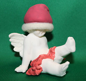 RUSS-BERRIE-VINTAGE-90-039-s-ANGELS-OF-LOVE-SITTING-ANGEL-CHERUB-CUPID-XMAS-FIGURINE