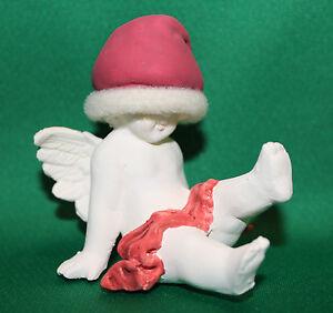 RUSS-BERRIE-VINTAGE-90-039-s-ANGELS-OF-LOVE-SITTING-ANGEL-CHERUB-CUPID-XMAS-FIGURINE