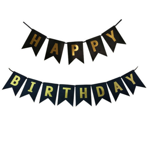 Happy Birthday Paper Bunting Banner Pastel Celebration Banner  Party Decoration