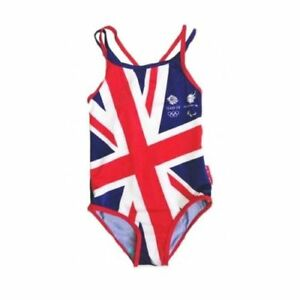 5dc04bdcf4ac Detalles de Oficial Niña Team GB Olímpico Gran Bretaña Verano Bañador Años  1-5