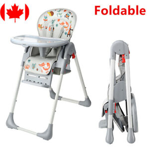 New-Baby-High-Foldable-Convertible-Table-Seat-Booster-Toddler-Feeding-Highchair