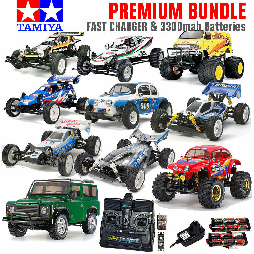 TAMIYA RC Car Kit Bundle with Everything Included  Choose Your Car