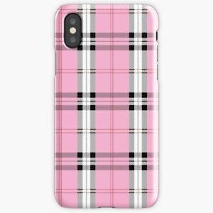 best cheap f7a39 ba04e Details about Wildflower Plaid Pink iPhone X/XS 6 7 8 S Plus, Emma  Chamberlain Samsung Galaxy