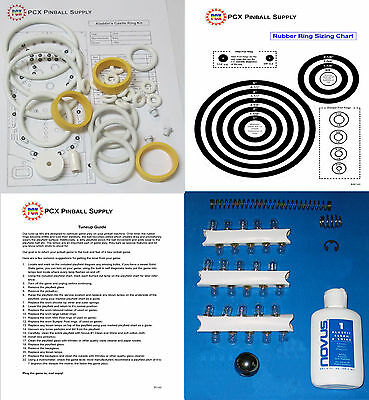 Includes Rubber Ring Kit 1976 Bally Aladdin/'s Castle Pinball Basic Tune-up Kit