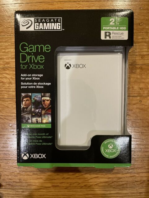 SEAGATE GAMING 2TB Hard Drive & Game Drive w/ 1 Month Xbox Game Pass Included