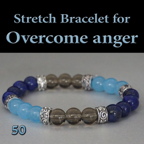 Healing Stretch Bracelet to Overcome and Reduce Anger Natural Energy Gifts