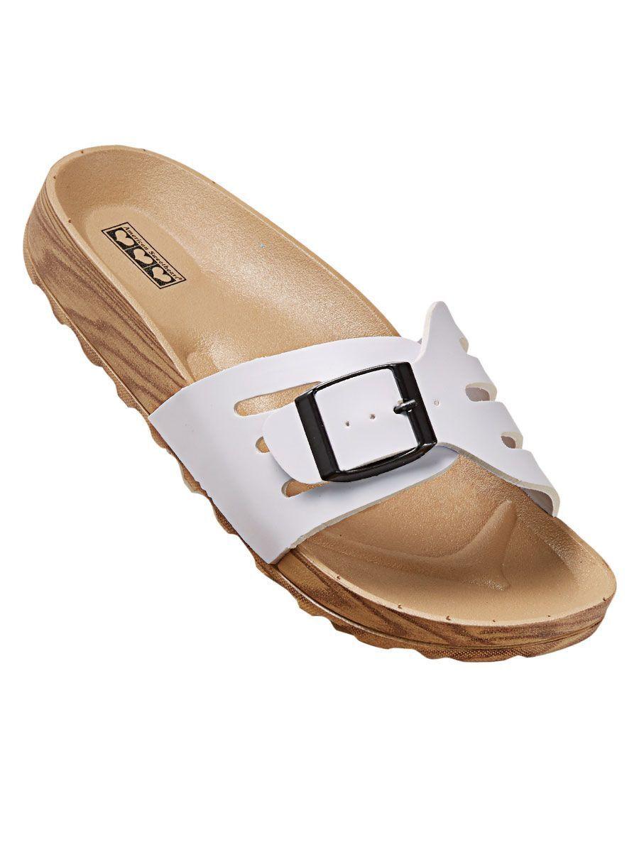 563ed3855a8 ... Women s Sandals Featherlight Sz Buckle Slides White Sz Featherlight 8
