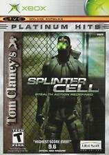 SPLINTER CELL STEALTH ACTION REDEFINED  ( JEUX  XBOX ) COMPLET / CIB / SEALED
