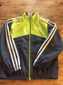 44615b433df8 Image is loading Youth-Boys-ADIDAS-full-zip-track-jacket-size-