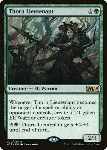 1x THORN LIEUTENANT Elf Warrior M19 MTG NM Magic the Gathering