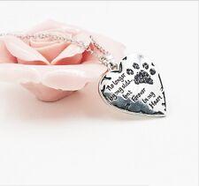 Halskette Gravur Trauerkette Hund Pfote herz Anhänger Trauerschmuck Gedenken 20