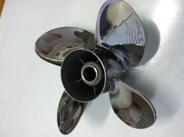 4 Four Blade Stainless Steel Boat Propeller Prop 14 5x19 by PowerTech
