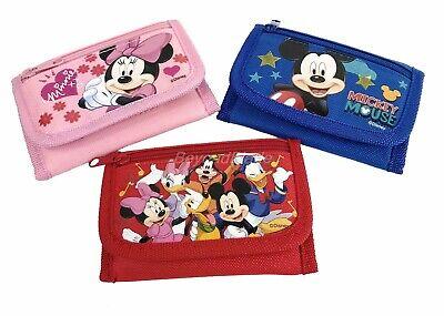 Inventivo Disney Mickey Portafogli Set Di 3 Ragazze Bambini Fumetto Per Portamonete