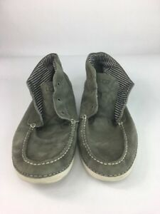 c8e58af6129b Details about Ugg Mens Grey High Ankle Top Leather Shoe, Size 13 (No Laces)