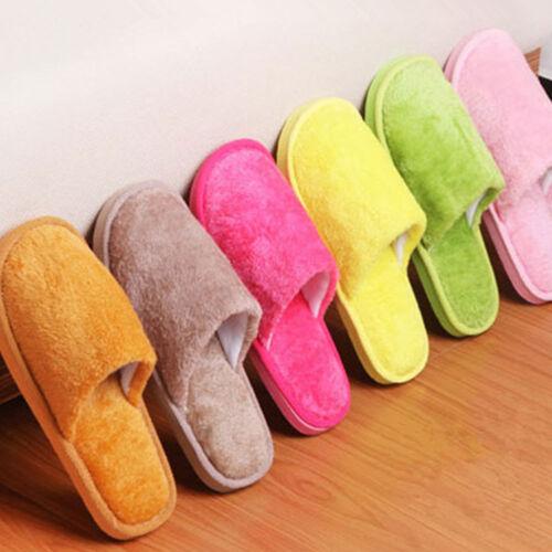 Anti-Rutsch Soft Warm Plüsch Hausschuhe Sandal Schuhe Unifarbe Pantoffel Indoor