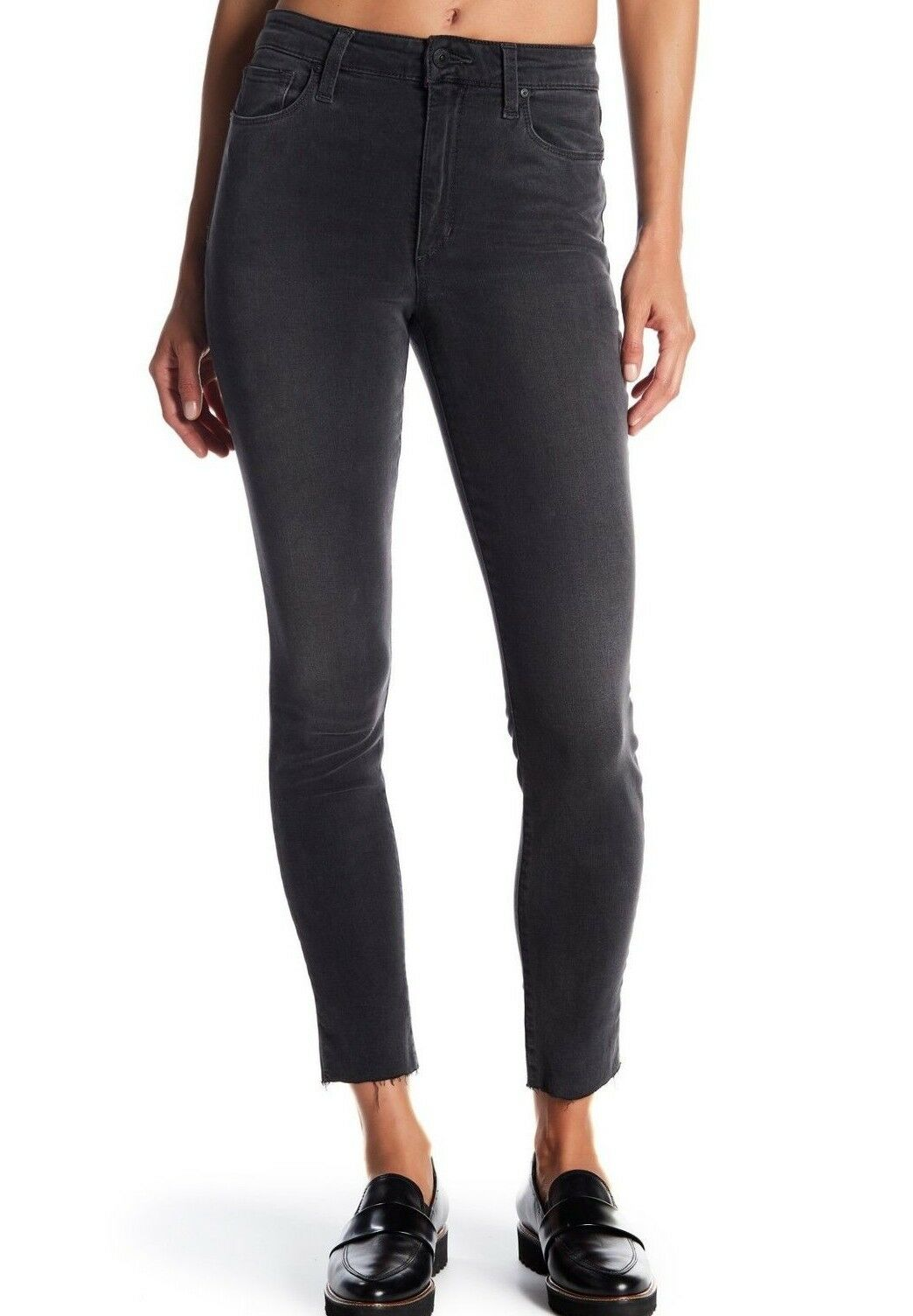 NWT JOE'S Sz29 THE CHARLIE RAW HEM ANKLE HI-RISE STRETCH JEANS LILYANA GREY