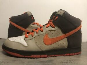 Nike-Dunk-High-Team-Orange-2008-Size-13-Light-Bone-Orange-Used-317982-081