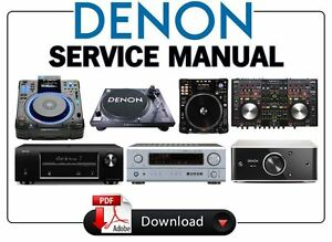 denon audio video receiver amplifier dj gear service manual choose rh ebay com Service Manuals AV Receiver