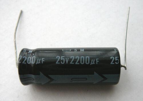5 piezas 25V//2200uF 85C condensadores electrolíticos axial