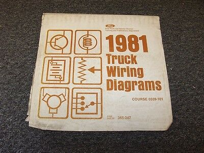 1981 Ford Bronco Courier Econoline Original Electrical ...