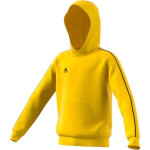 Détails sur Adidas Enfants Core 18 à Capuche Pull à Capuche Jaune [FS1892]