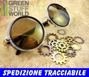 Imbottitura Vittoriano Anelli di gomma adattabili per occhiale SteamPunk