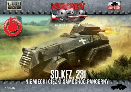 231 Niemiecki ciężki samochód pancerny skala 1//72 First to Fight 064 Sd.Kfz