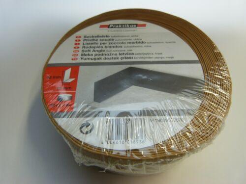 PVC Sockelleiste 10 m Knickwinkel Winkelleiste selbstklebend EICHE 0,60€//m