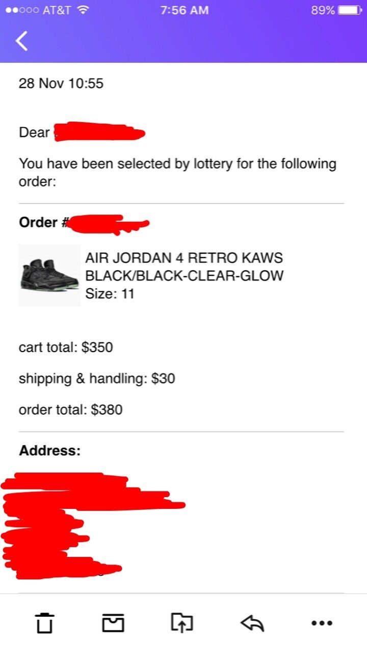 Air Jordan 4 Kaws Black Authentic And Deadstock In Hand Casual wild