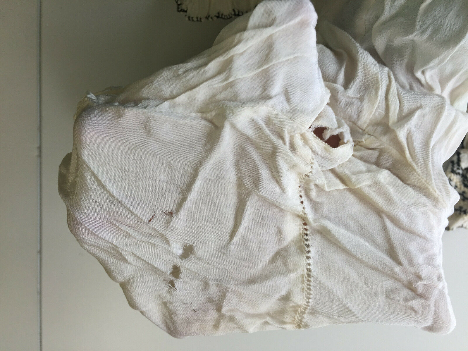 Vtg Hungarian Blouse S-M Embroidered Hand Made Fl… - image 12