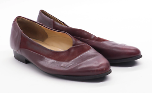 Hush-Puppies-Womens-UK-Size-4-5-Burgundy-Leather-Shoes