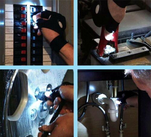 Gant de Torche Lampe de poche DEL Outils de Pêche Cyclisme Plomberie Randonnée mécanique NEUF
