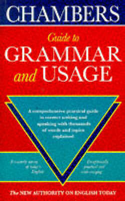 , Chambers Complete Guide to English Grammar and Usage, Very Good Book