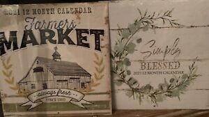 Farmhouse Farmers Market 2021 Calendar Country Kitchen ...