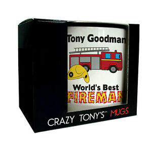 Personalised Gift Ideas For Firemen