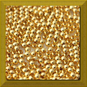 GOLD-Plated-Metal-2mm-Round-Smooth-Spacer-Beads-100-pcs-USA